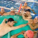 Usuarios de Afesmo en la piscina